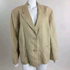 Jones New York 100% Linen Blazer Plus Size 24W